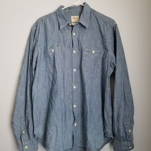 Gap 1969 standard fit chambray shirt L